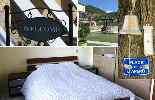 Beste Bed and Breakfast - B&B Au Grand Bonheur - Chambre d'Hôte - Languedoc-Roussillon - Gard - Bessèges - compositie
